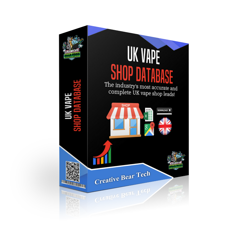 Features of the UK vape shop leads database