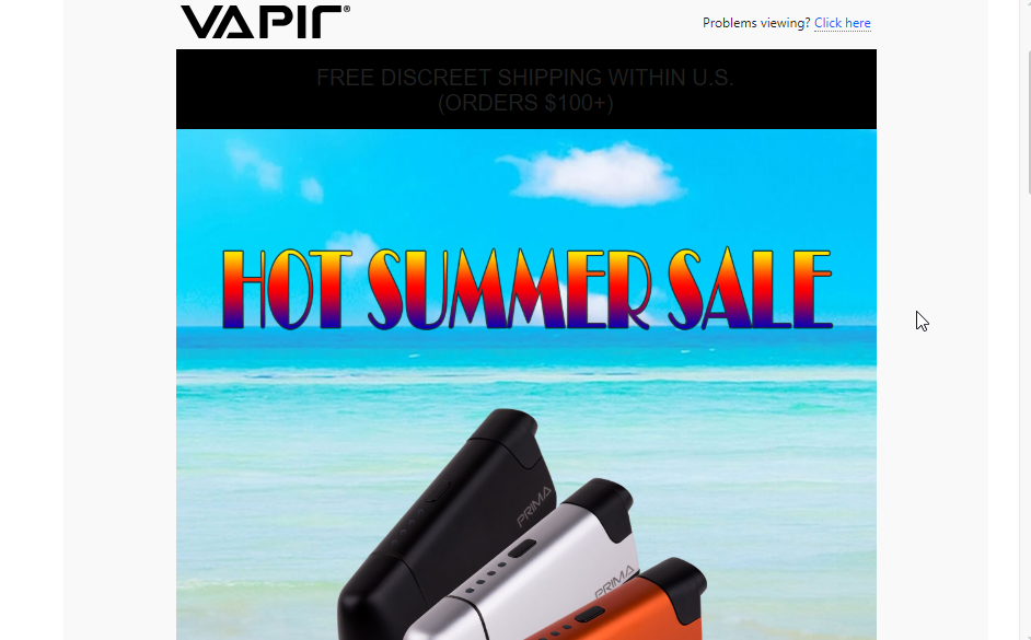 Include graphics inside your vape newsletter that capture attention
