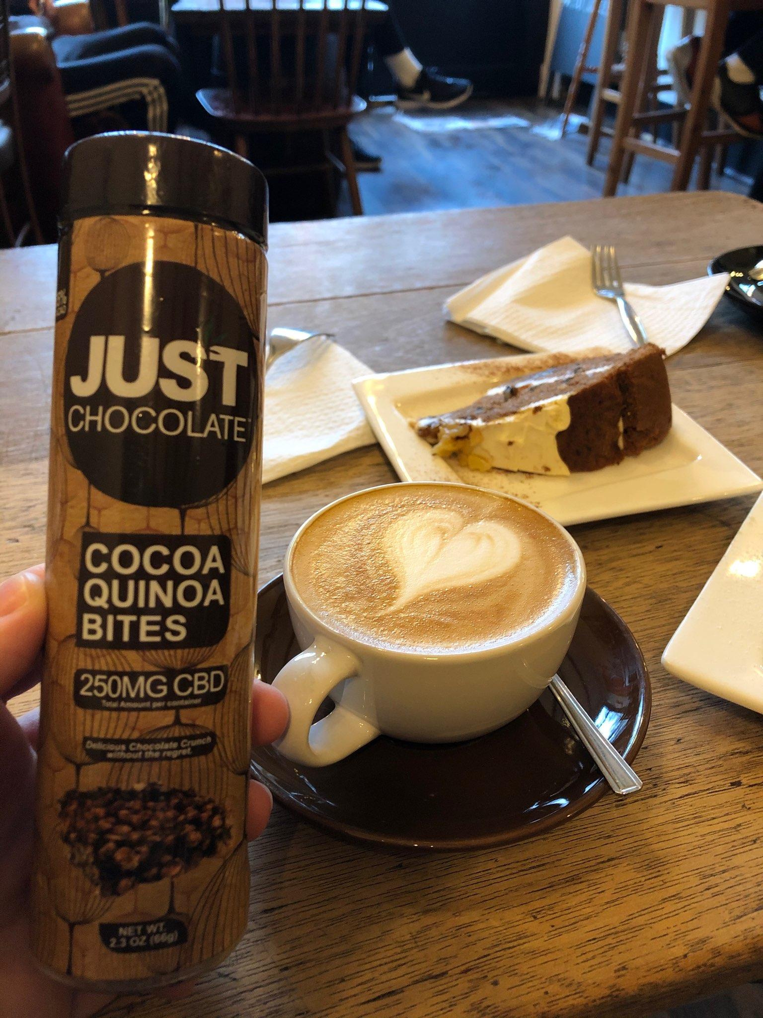 JustCBD Cocoa Quinoa Bites