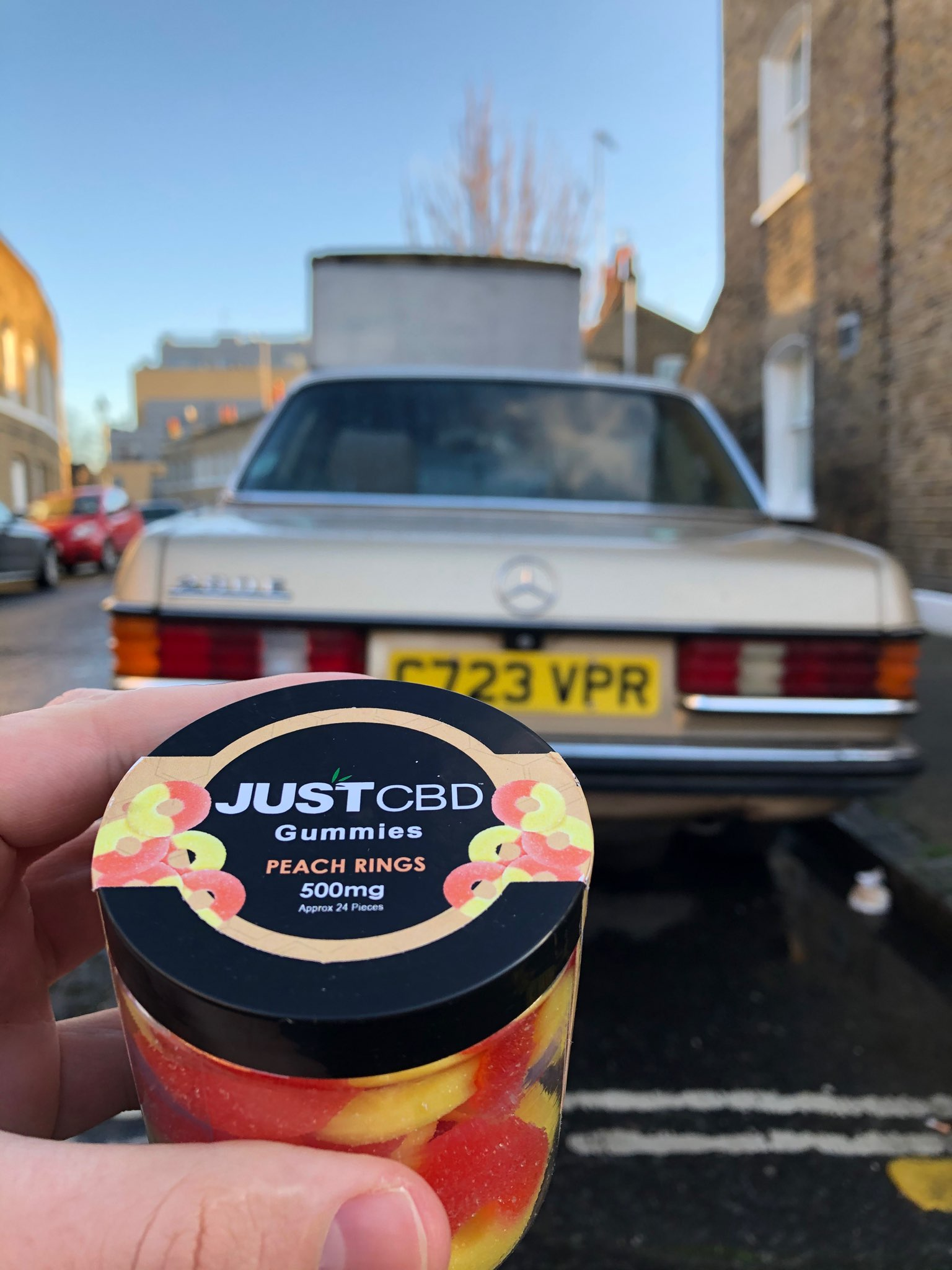 JustCBD CBD peach rings