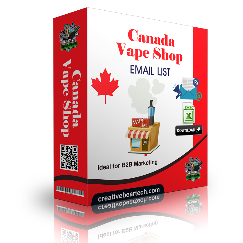 Canada Vape Shop Database - Vape Shop Emails